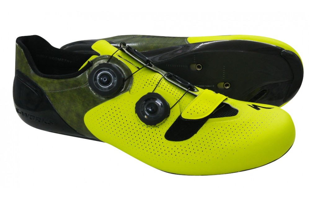 specialized s works 6 neon yellow road shoes limited. Black Bedroom Furniture Sets. Home Design Ideas