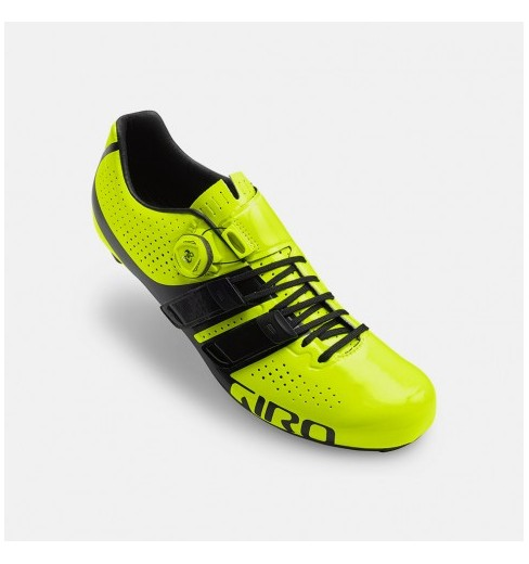 GIRO chaussures route homme Factor Techlace jaune noir 2018