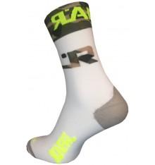 RAFA'L Attack Army White cycling socks