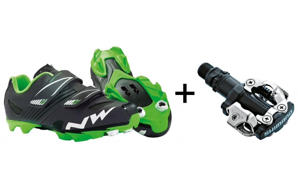 inégale en performance où acheter meilleure sélection de NORTHWAVE chaussures VTT Hammer junior + pédales Shimano M520