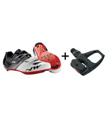 NORTHWAVE chaussures route Torpedo junior + pédales Shimano R540