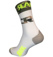 RAFA'L Attack Army White cycling socks