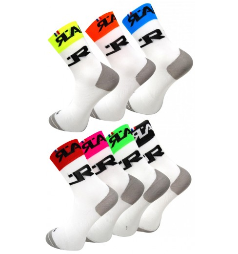 RAFA'L Attack high white cycling socks