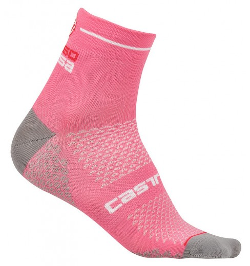 Socquettes vélo femme CASTELLI Rosa Corsa 2 rose Giro