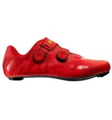 Chaussures vélo route homme MAVIC Cosmic Pro rouge 2019