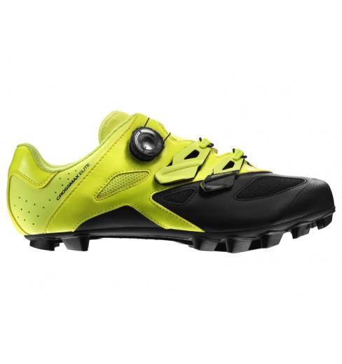 MAVIC Crossmax Elite yellow men's MTB shoes 2019