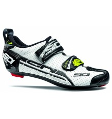 SIDI men's T4 Carbon Air white / black Triathlon shoes 2018