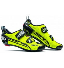 SIDI men's T4 Carbon Air yellow fluo / black Triathlon shoes