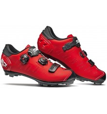 Chaussures VTT SIDI Dragon 5 SRS Carbone rouge mat noir 2019
