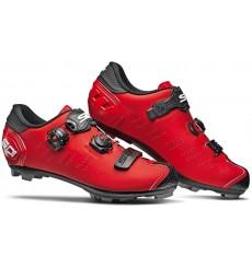 Chaussures VTT SIDI Dragon 5 SRS Carbone rouge mat noir 2021