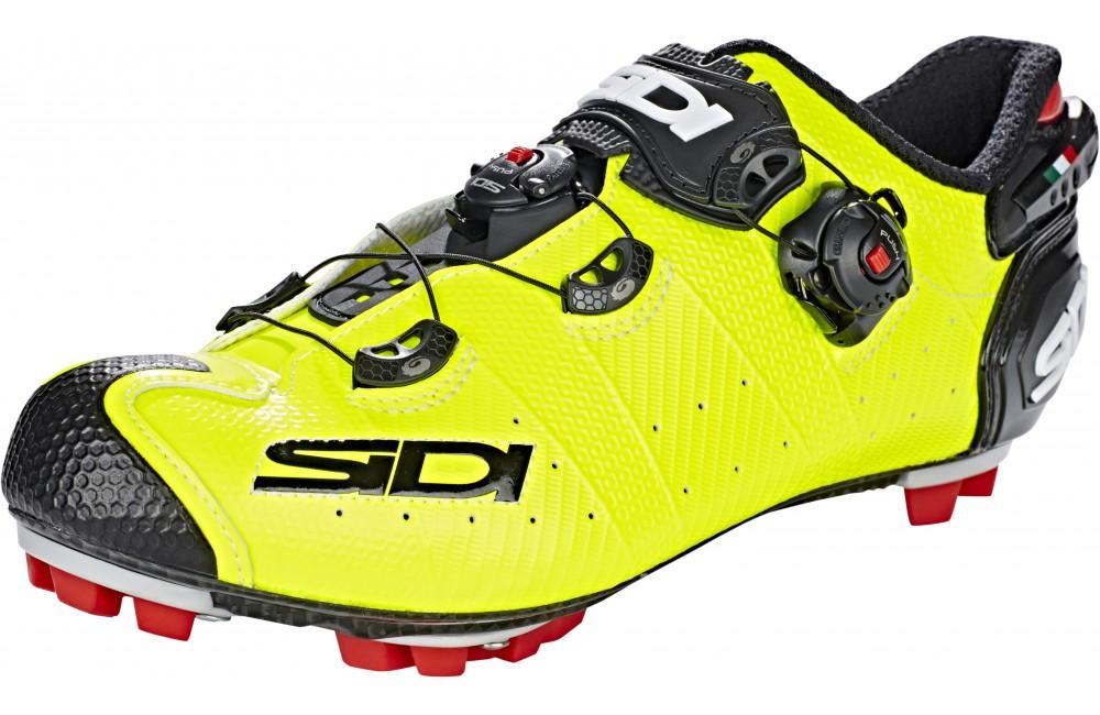 grande collection plusieurs couleurs meilleure qualité pour Chaussures VTT SIDI Drako 2 SRS jaune fluo noir 2019
