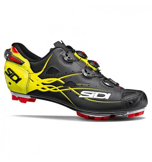 SIDI Tiger carbon matt black yellow mountain bike shoes