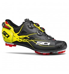SIDI Tiger carbon matt black yellow mountain bike shoes