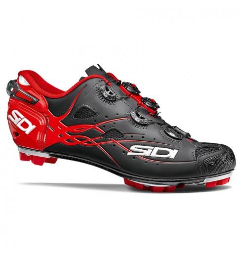 SIDI Tiger carbon matt black red mountain bike shoes