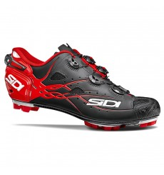 SIDI Tiger carbon matt black red mountain bike shoes