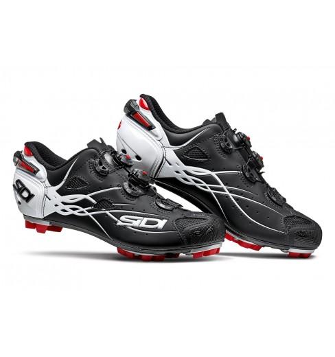 SIDI Tiger carbon matt black white mountain bike shoes