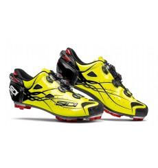 SIDI Tiger carbon bright yellow mountain bike shoes