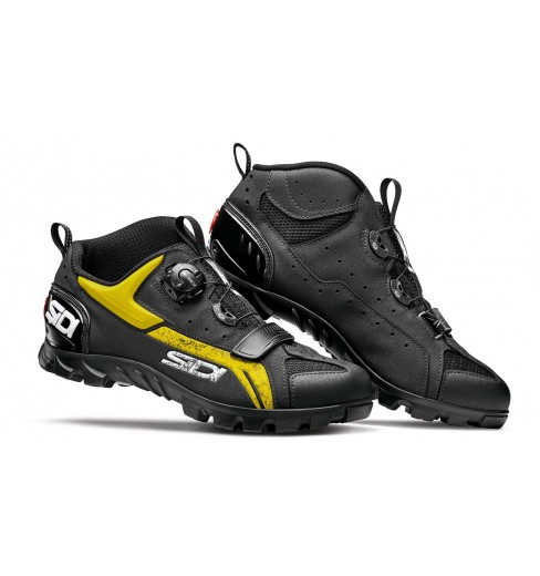 SIDI Defender black yellow men's MTB shoes