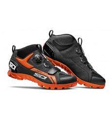 SIDI Defender black orange men's MTB shoes