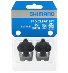 Paire de cales VTT Shimano SM-SH51 SPD lateral noir + plaque