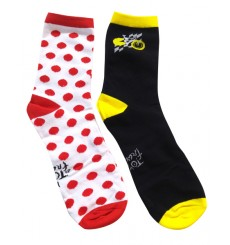 Lot de 2 paires de chaussettes cyclistes Tour de France 2019