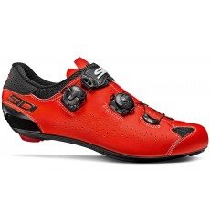 SIDI Genius 10 black / red fluo road cycling shoes 2019