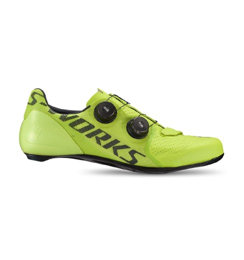 SPECIALIZED S-Works 7 yellow hyper road cycling shoes 2020