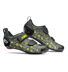 SIDI men's T5 Carbon Air grey / yellow fluo Triathlon shoes 2020