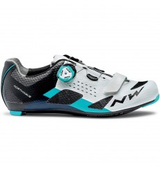NORTHWAVE STORM Carbon white/blue road cycling shoes 2020