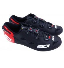 SIDI Shot Carbon matt red black road cycling shoes