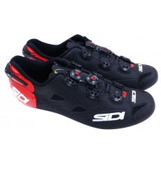 SIDI Shot Carbon matt red black road cycling shoes
