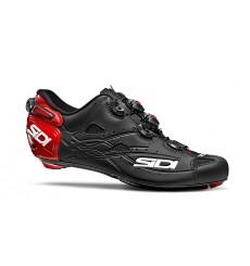 Chaussures vélo route SIDI SHOT carbon rouge mat noir