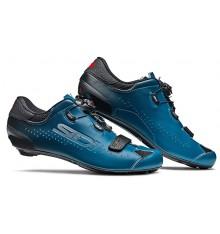 Chaussures vélo route SIDI Sixty noir bleu pétrole 2020 - Edition limitée