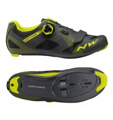 NORTHWAVE STORM Black/Yellow road cycling shoes 2020