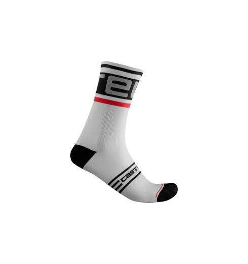 CASTELLI chaussettes vélo PROLOGO 15 Noir/Blanc 2021