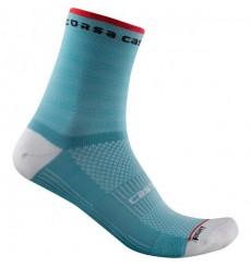 CASTELLI chaussettes femme vélo été Rosso Corsa 11 Bleu Celeste 2021