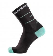 BIANCHI MILANO Oreto black cycling socks