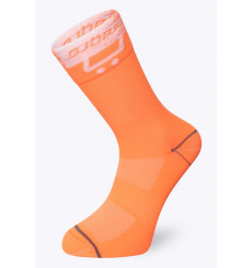 BJORKA chaussettes vélo été TEAM 2021 blanc / Orange