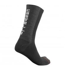 CASTELLI BANDITO WOOL 18 black cycling socks 2022