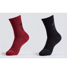 SPECIALIZED chaussettes vélo hiver Cotton Tall Logo