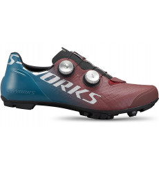 SPECIALIZED chaussures VTT homme S-Works Recon - Tropical Teal / Marron / Argent