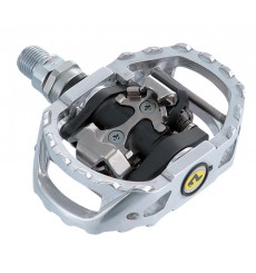 Shimano MTB M545 silver pedals